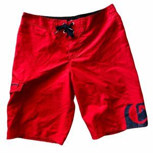 Quicksilver Original Red Swim Trunk Board Shorts M